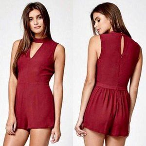 KENDALL & KYLIE Size S Red Burgundy Romper